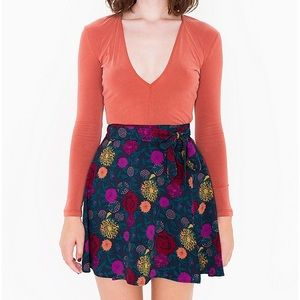 American Apparel Dresses & Skirts - NEW Printed Demi Wrap Skirt