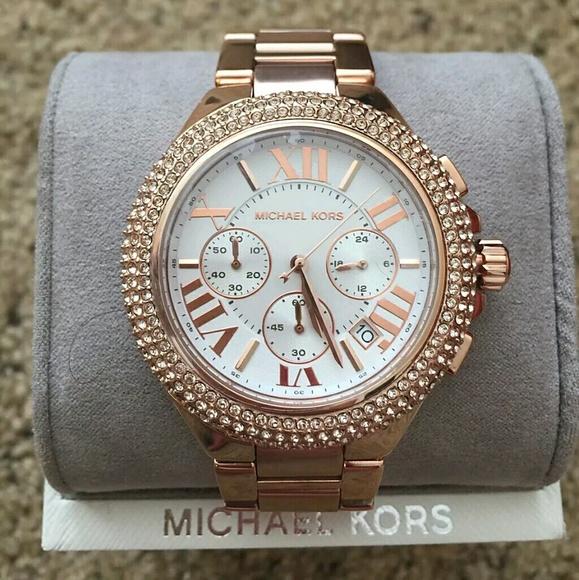 MICHAEL KORS Rose Camille Swarovski Crystal watch