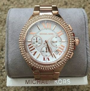 Michael Kors Other - MICHAEL KORS Rose Camille Swarovski Crystal watch