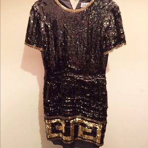 A.J. Bari Dresses & Skirts - Sequin party dress 🖤💛