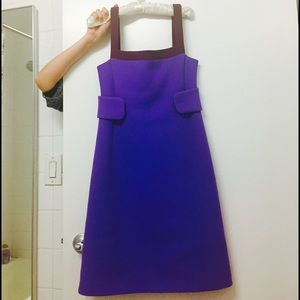 Prada purple wool dress, small in good condition