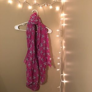Accessories - Pink, blue and white starfish summer scarf