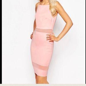AX Paris Dresses & Skirts - AX Paris Mesh Insert Midi Dress