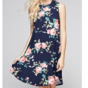 Just in - Dark Navy Flower Dress