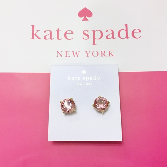 434b31bb9b420 NEW Kate Spade Gumdrop Stud Earrings, pink/gold NWT