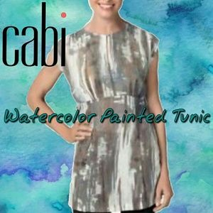 CAbi Watercolor Painted Tunic