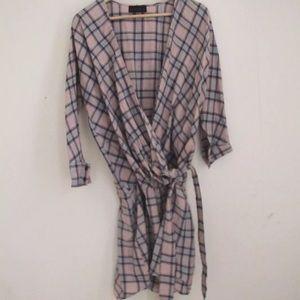 Hatch Dresses & Skirts - Hatch plaid wrap dress large