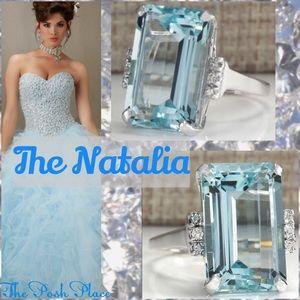 Jewelry - ✂️ Price Cut The Natalia Aqua Marine Heirloom Ring