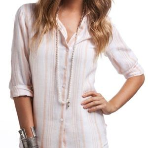 Island Company Tops - Island Company Jacmal Linen Shirt
