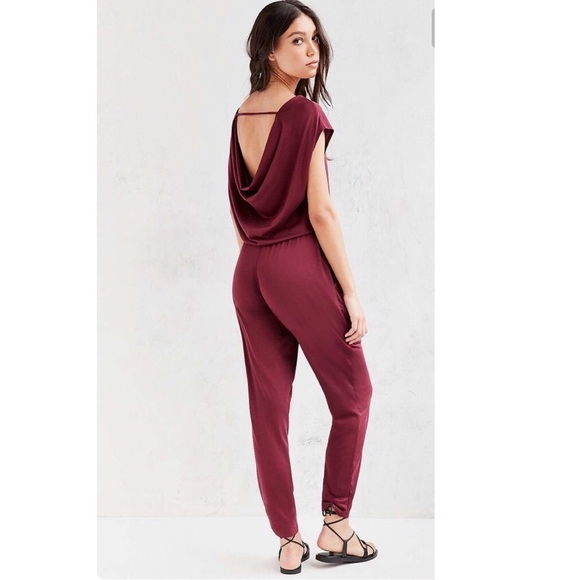 27b9840b43a Urban Outfitters NWT Silence + Noise Wine Jumpsuit