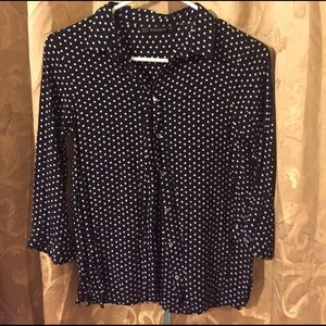 Zara Basic women's polka dot blouse