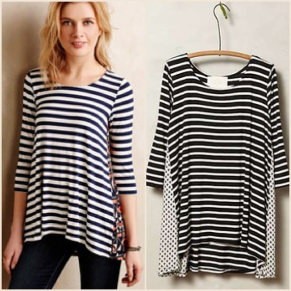 c0f91c68017 Anthropologie Tops - Puella for Anthropologie Striped Swing Tunic