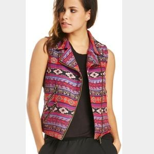 Line & Dot Tops - Line & Dot Cotton Moto Vest
