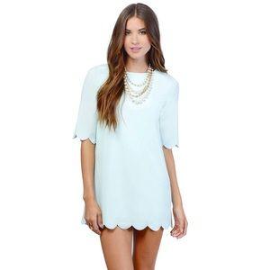 Tobi Dresses & Skirts - Tobi 'Sweetly Scalloped' Mint shift dress