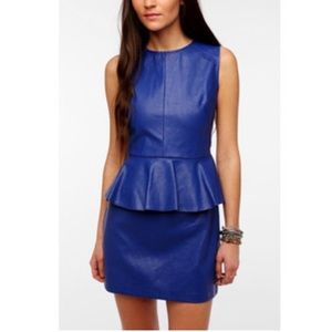 Lovers + Friends Dresses & Skirts - NWT Lovers +Friends blue leather dress XS S M $120