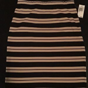 Grace Elements Dresses & Skirts - Black/Sesame Striped Pencil Skirt - NEW