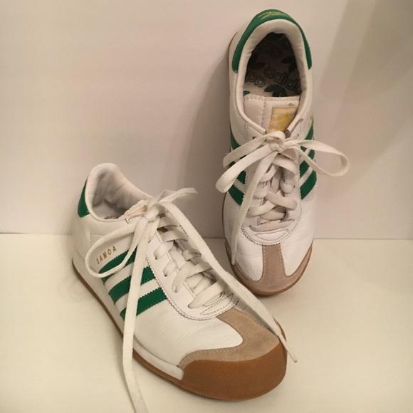 adidas samoa verde bianco mens dimensioni 7 poshmark