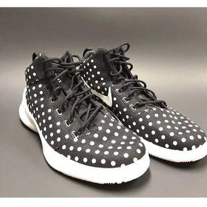 Nike Other - NWOT Nike Hyperfr3sh PRM Premium Blk/Wht Polka 9.5