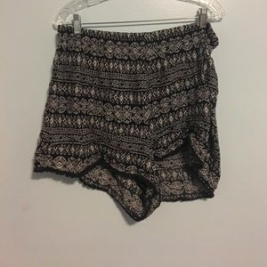 black and white tribal shorts