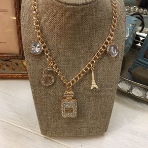 Jewelry - Bling !! Necklace No 5,Perfume Bottle No 5, Eiffel