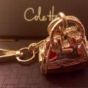 Cole Haan Handbags - NEW- COLE HAAN Gold Pink Purse Handbag Keyring