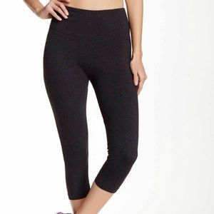 Bally Pants - BALLY Grey Tummy Control Capri Legging