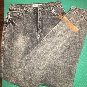 Rox white wash jeans gray