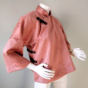 VTG Handmade ROSE PINK Trapeze Oriental Top L
