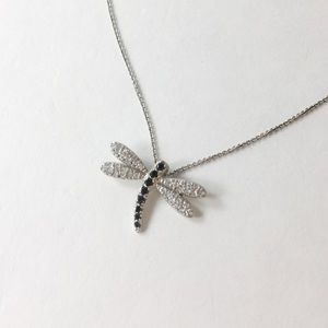 Jewelry - NWOT 925 & CZ dragonfly necklace