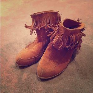 Viviana Shoes - Vintage 1970's Viviana by G & R suede moccasins.