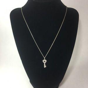 Jewelry - NWOT 925 & CZ key necklace
