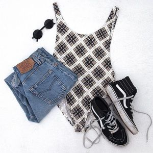 Motel Rocks Tops - 🆕 Motel Plaid Bodysuit