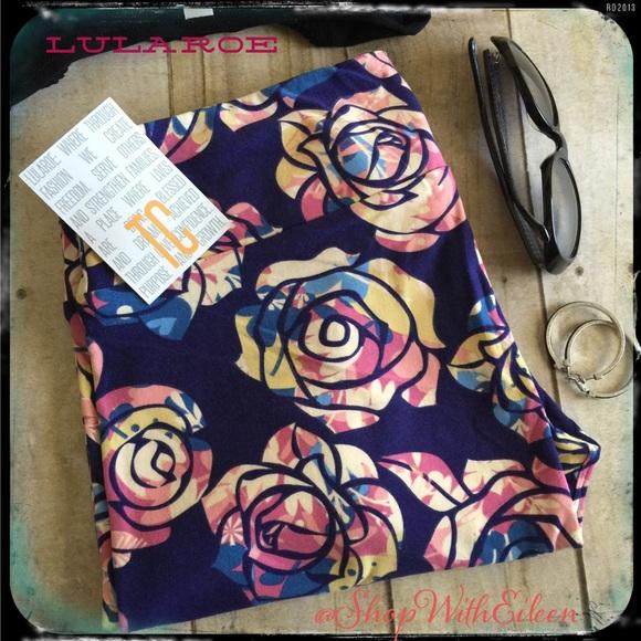 4c1afb1b4072a1 LuLaRoe Pants | Disney Roses Purple Tc Leggings | Poshmark