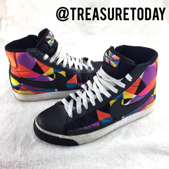 100% off Nike Shoes   RARE Nike Blazers Colorful High Top Sneakers  Hot