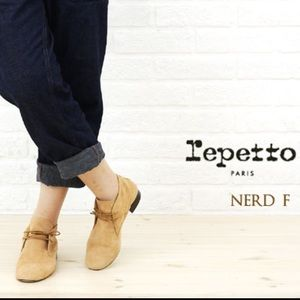 Repetto Shoes - Repetto Nerd Suede trimmed derby