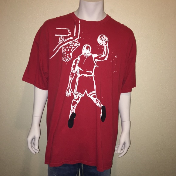 682f58748023b Nike Air Jordan XXL Red Shirt w/White Sketch Dunk