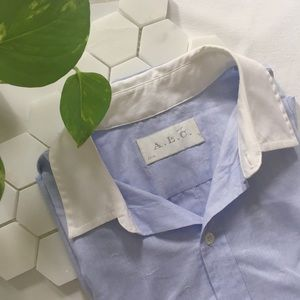 A.L.C. Tops - A.L.C. Embroidered Anchor Pinstripe Shirt