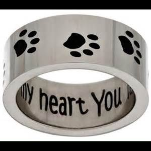 STEEL BY DESIGN Jewelry - NEW! STAINLESS STEEL 🐾 PAW PRINT RING Size 6