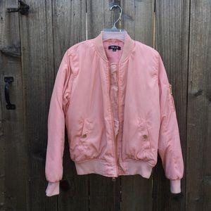36.5 Jackets & Blazers - Light pink women's layer bomber jacket gold zips