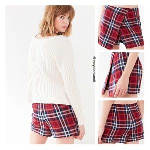 Urban Outfitters Cooperative Plaid Skort