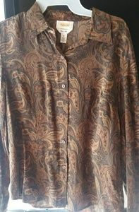 MARKED DOWN! Talbots Paisley Button Down Blouse