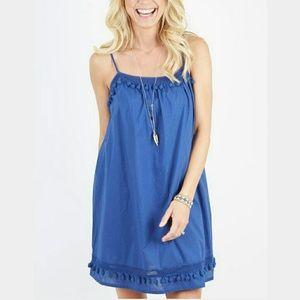 Evereve Dresses & Skirts - Braeve blue zina pompom dress
