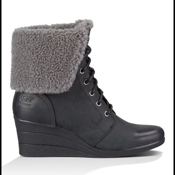 ugg zea wedge ankle boots