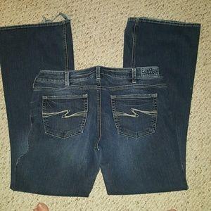 Silver Jeans Denim - Size 33L Silver Aiko wide boot