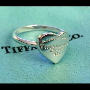Tiffany&Co 925 Return To Tiffany Heart Silver Ring