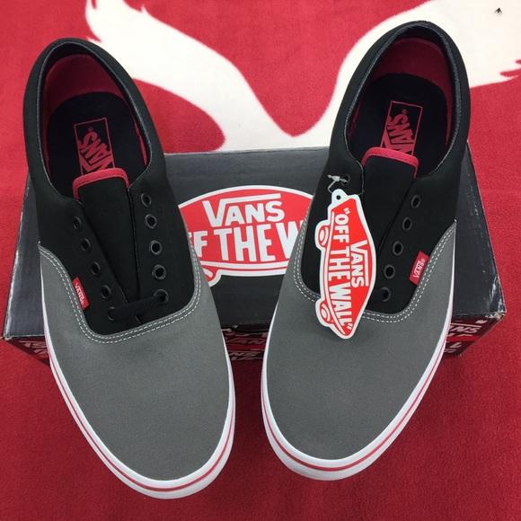Vans Era (Tri-Tone) Charcoal Gray Black Red 8754d3f9c5