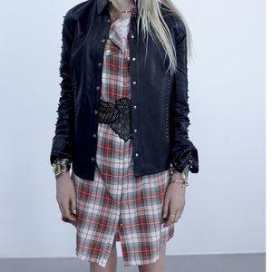 Zadig & Voltaire Dresses & Skirts - Zadig & Voltaire Plaid Rilla Grunge Shirt Dress