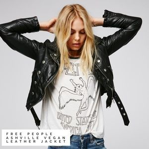Free People Jackets & Blazers - Free People // Ashville Vegan Leather Moto Jacket