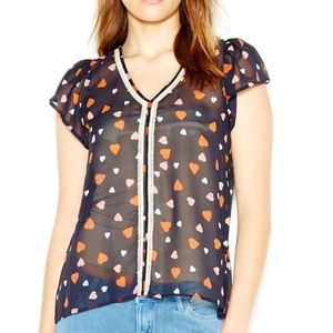 Maison Jules heart printed blouse