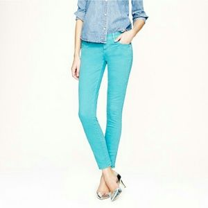 J. Crew Denim - J. Crew Toothpick Skinny Teal Jeans 29 Tall Long
